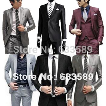 Бесплатная доставка 2013 высокого качества моды для мужчин костюм! Новое прибытие Мужчины Blazer деловых людей тонкая одежда Костюм и брюки Самые продаваемые