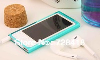 Brand New Best Selling Transparent Flexible Protective Soft Trasparent TPU Case For Apple iPod Nano 7 Free Shipping 2pcs/Lot