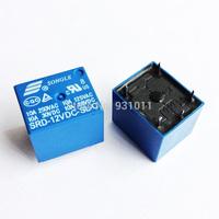 Free Shipping 10PCS/lot 12V DC SONGLE Power Relay SRD-12VDC-SL-C PCB Type
