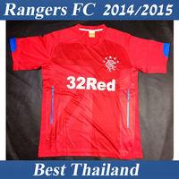 Rangers FC Jersey 14 15 Best Thailand Quality Away Red Soccer Jersey Soccer Uniform
