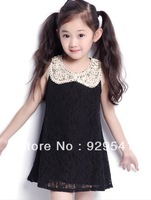 Hot Sale! Free Shipping! 2013 children's clothing summer female child lace sweet princess one-piece dress