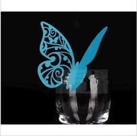 Laser Cut Butterfly Wedding Place Cards for Wine Glass Decorations Paper Name Escort Card 120 Pieces -120C