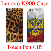 HearTank  Hot Selling Leopard Design Hard Back Cover Case for Lenovo K900 Case Cover Phone Cover Free Shipping
