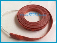 Silicone Pipe Heater, Tube Heating Tape, Heating Belt, Silicone Heating Element, 15*3000mm 200W@220V, Free Shipping