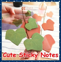 [FORREST SHOP] Korea Novelty Gift Green Leaf Sticky Paper Memo Pad Decoration Notepad Post It Notes Sticker (20 set/lot) FRS-108