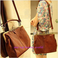 2013 vintage bag leather small fashionable casual messenger bag women's shoulder bag fashion ladies shoulder bagYS368