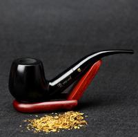 10 Tools Gift Set 14cm Smoking Pipe Handmade Ebony Wood Smoking Pipe 9mm Filter Black Smoking Pipe Set SS-3164
