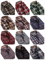 HQ Autumn Winter Men's Long Sleeve Plaid Shirt Checks Blouse Cotton Shirts Button Down Casual Men Slim Flannel Tops XS- XXXL