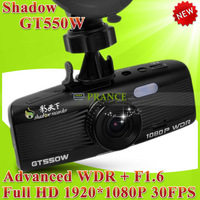 100% Original Shadow GT550W & GT550WS Car DVR Recorder Advanced WDR+Night Vision Full HD 1080P 30FPS+G-Sensor+Car Plate Stamp