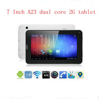 7 inch Android 4.2 Allwinner A23  Dual Core 2G GSM phone call tablet PC 512MB/4GB Wifi Bluetooth Dual Camera Sim card slot