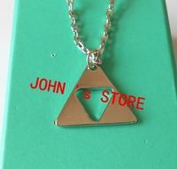 Freeshipping 20pcs a lot The Legend of Zelda the Triforce Zelda Triforce necklaces ZAS02
