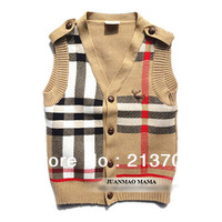 New 2013 Brand Children Clothing Baby Boys Girls Knitted Sweater Vest Kids Sleeveless Cardigan for Spring Autumn Winter