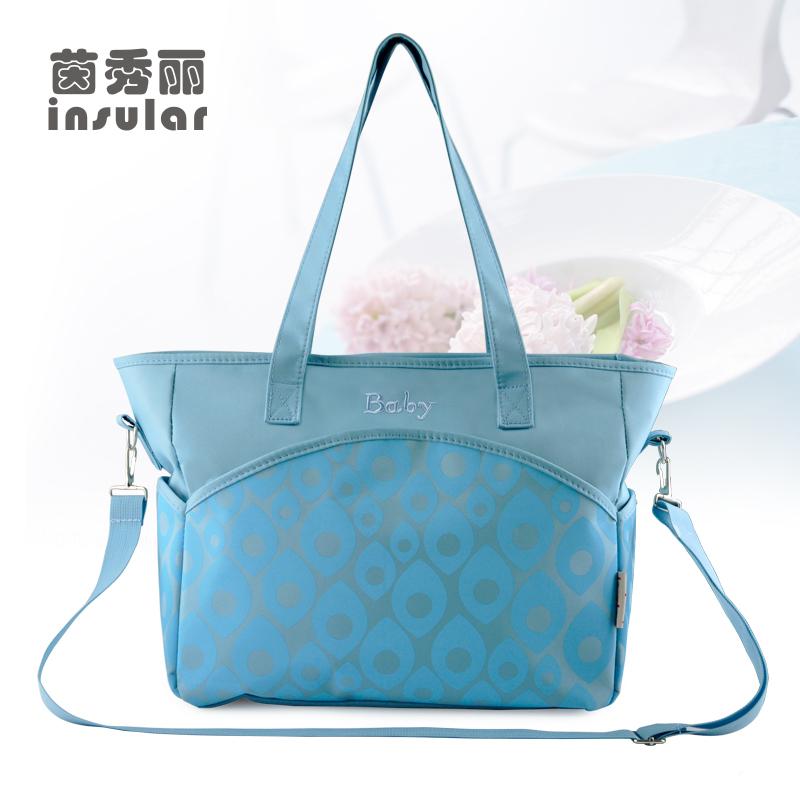 Free Shipping Hot Sales Baby Diaper Bag Embossed Printing Baby Bag Fashion Nappy Bag Mummy Bag(China (Mainland))