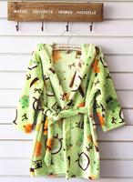 Autumn Winter Baby Kids Robe Long-sleeve Cartoon Soft Flannel Boys Girls Night-robe Warm Bathrobe For Children's Sleepwear R003