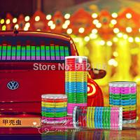 13 OPTION LED Sound Activated EL Sheet Car Music Sticker Equalizer Glow Flash Panel Multi Colour Light Flashing Free shipping