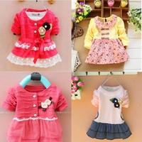 2014 New  Bestselling Baby Girl's Bow Shirt ,Girl Bowknot long sleeve bouffancy shirts children shirt 1 pcs max XL size