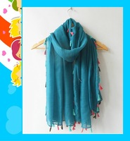(free shipping)  new tassel  muslim shawl ,muslim hijab  viscose 180*100cm ,can choose colors