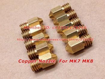 10pcs/lot 3D Printer  Nozzle for Makerbot MK7 MK8 0.4mm  length13mm Freeshipping $ 25usd