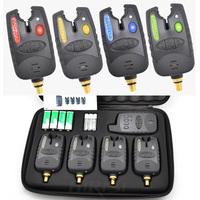4 pack wireless fishing bite alarm set for carp fishing 1+4 in EVA case