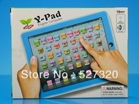 Y-Pad English Learning Tablet machine for Children, kids touch learning laptop computer desk y pad LED light baby's table toys