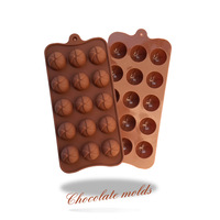 15 holes ball shape Chocolate Mold Silicone Ice Cube mould cake decorating cupcake cup baking tools bakeware