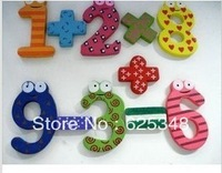 Retail Fridge Magnet Child Colorful numbers shape Learning Wooden Magnetic Toddler Children Math Toys