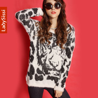 Hot selling! 2014 New Autumn/winter Tiger Sweater Women clothing European and american style / Loose sweaters long sleeve /