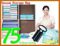 FREE SHIPPING 10 pcs/set Vacuum Clothing Bedding Storage Bags with Pump Garment Space Saver Wardrobe Home Storage & Organization