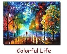 Paisagem Rural Pintura pelo número de kit DIY vários estilos de pintura a óleo em tela 40x50cm(China (Mainland))