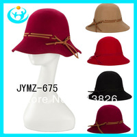 Free shipping cheap Spring and autumn women's pure wool bowler hat  elegant  fedoras painter cap Party cap winter cap