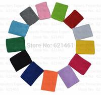4pcs/lot sport Wristband  8cmX10cm elastic cotton Sports Band Wrist Support Protector munhequeira for Basketball Tennis
