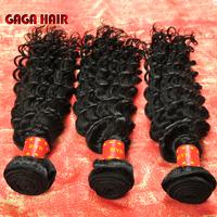 3pcs/lot Unprocessed 100% Brazilian Deep Wave Hair 6A Virgin Human Hair Weave Bundles Curly Hair Extension GAGA Hair Products