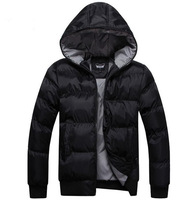 2013  Men's New  jacket Cotton Hooded Coat  High Quality Warm & Fashionable Outwear M-XXXL  Free Shipping Wholesale MWM056