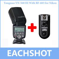 Yongnuo YN-560 III With RF-603 Single Transmitter for Nikon,YN560III Ultra-long-range Wirelss flash Speedlite RF603 Trgger