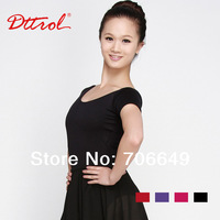 Dttrol Nice Tactel Ladies Leotard with Short Sleeve Women Ballet Dance Wear  (D004915)