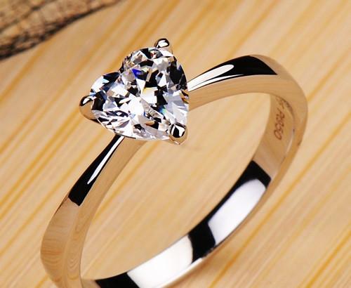 certificate 1 carat moissanite engagement rings for women 18K white gold natu