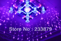 Wholesale LED lights 13.1*1.96ft Christmas rgb chandelier string light curtain decoration lamp crystal Fairy wedding Decoration
