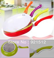Hot / Nano Ceramic / 26CM / frying pan / skillet / green ceramic wok / Smokeless / cooker pot  4 Colors Free Shipping