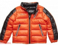 Free shipping 2013 new Retail Children's outerwear on both sides the letter BOSS,outerwear jackets for children 1pc/lot