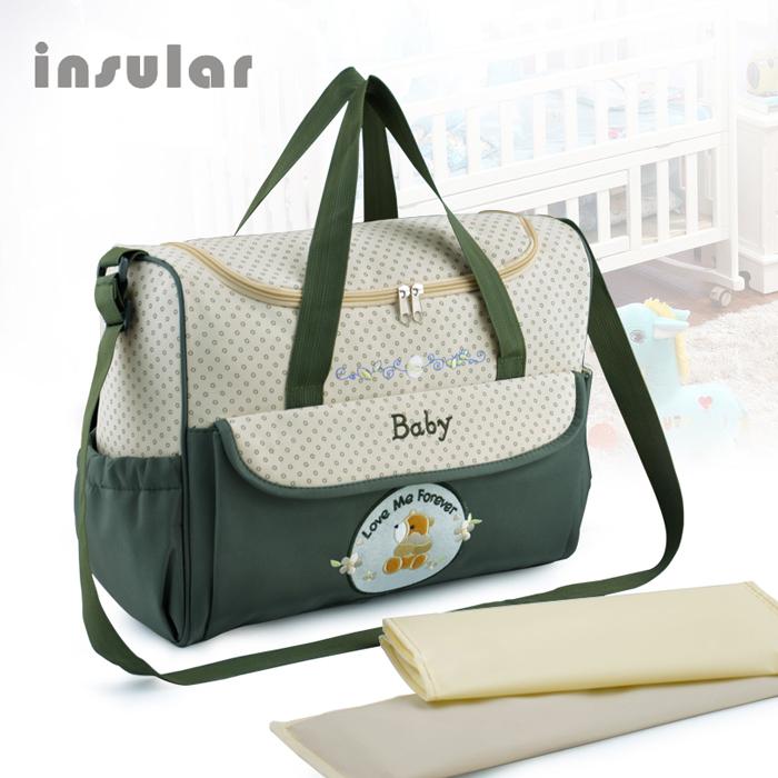 Free Shipping Hot Sale Fashion Large Capacity Multifunction Diaper Bag Durable Mommy Bag Baby Bag(China (Mainland))