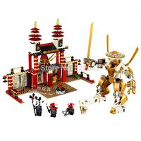 Bela Building Blocks Hot Toy Temple of Light Ninjago Educational Construction Sets Bricks Toys for Boy Model Building Gift