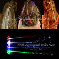 LED Braid 20pcs/lot , LED glowing head braid,Colorful Headlamp for Party Holiday Supplies freeshipping