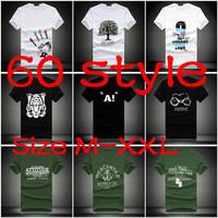 Wholesale 2014 brand NEW Men's T-Shirts men fashion o-neck T shirt male casual shirts tops Free shipping Size M-XXL LC0020