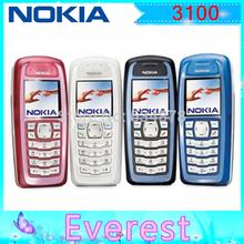 100% Original Nokia 3100 original unlocked phone GSM bar mobile phones cheap phones Free shipping via Singapore post(China (Mainland))