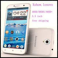 56lanugage original  free shipping Original New Lenovo A850/a850i/a850 plus phone  5.5 inch Android 4.2 GPS WCDMA 3G Smart Phone