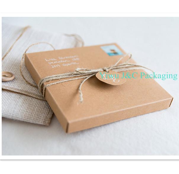 Hot 15.5 x 15.5cm Brown Kraft 2PC Party Invitation Boxes (JCO-00Z6)(China (Mainland))