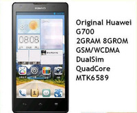 5 inch Original new HuaWei Ascend G700 Android 4.2 2G/8GB Quad Core WCDMA 3G Moblie phone ROOT Google Play Bluetooth 8MP
