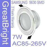 18pcs/lot 7W led recessed downlight lamp dimmable 110V  220V 240V AC85-265V 3years warranty   :TDB07