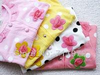 Retail 1 pcs Girl Sweet flower long-sleeved shirt  baby clothes baby girls children coat