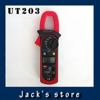 Free Shipping UNI-T UT203 UT 203 Digital Clamp Multimeter Ohm DMM DC AC Current Voltmeter 400A